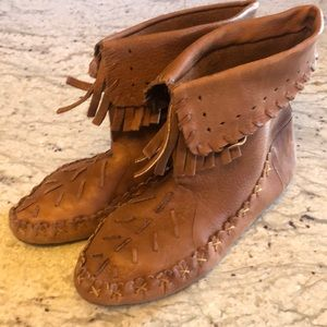 Vintage 9 West Moccasin Boots Leather